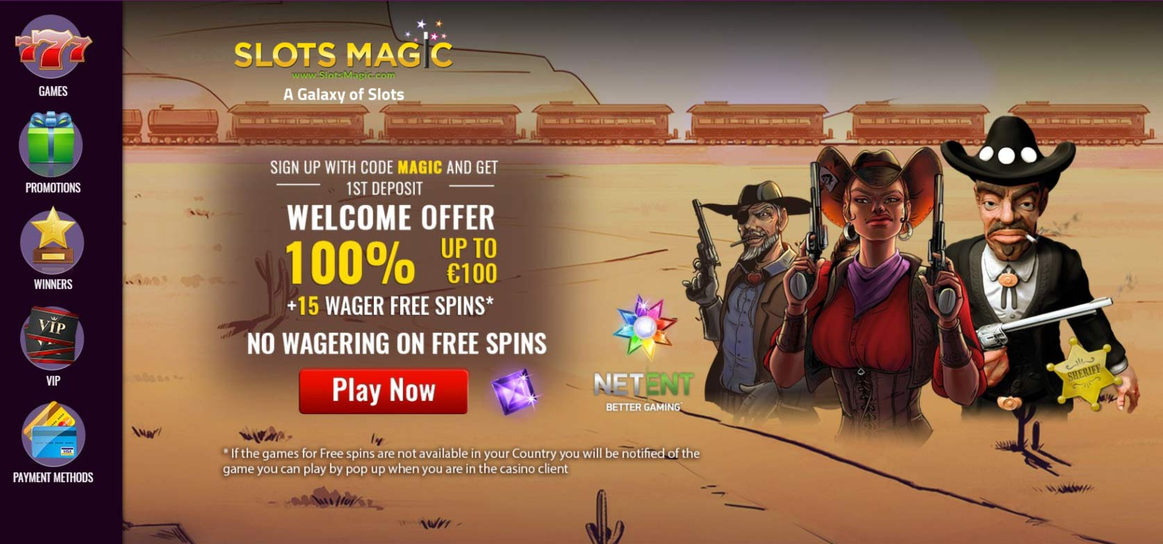 SlotsMagic Homepage