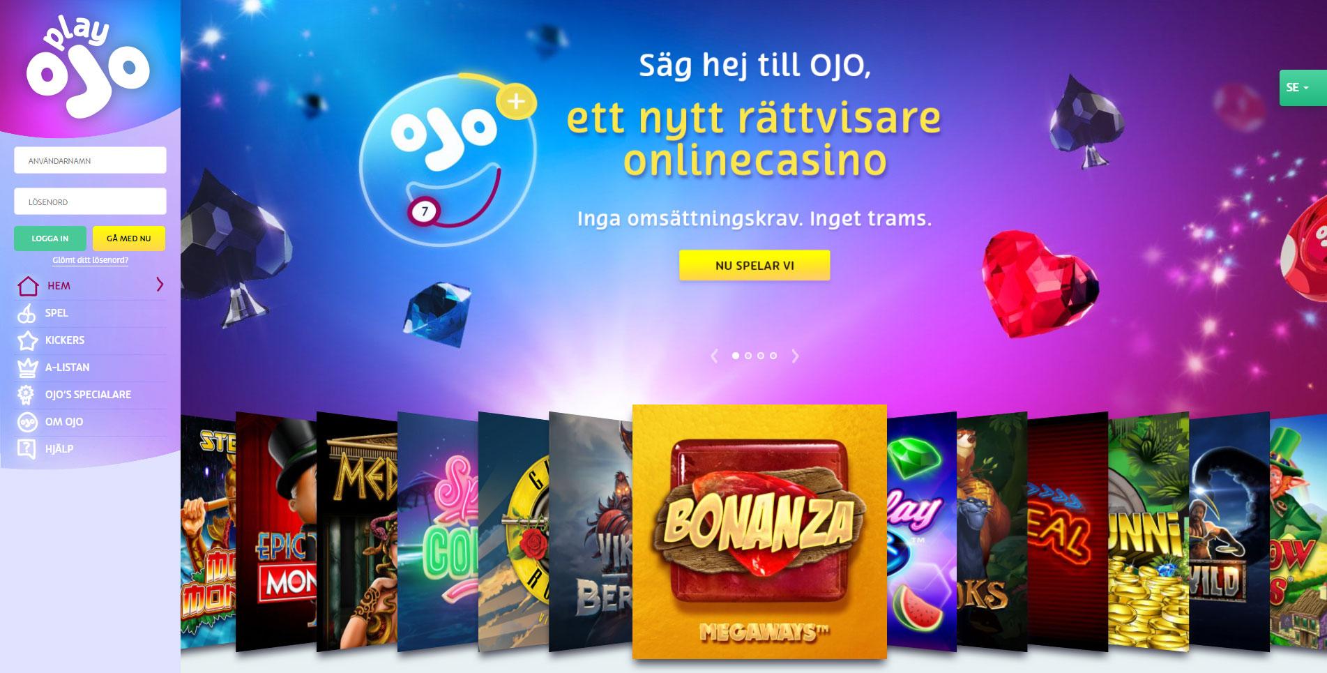 Play OJO Casino Bitcoin bonus