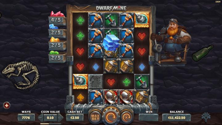 dwarf mine slot